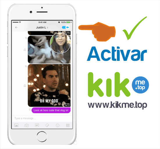 Como activar chat de video en Kik