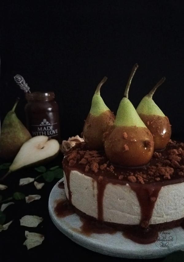tarta-mousse-pera-chocolate-blanco-dulce-leche-sin-horno