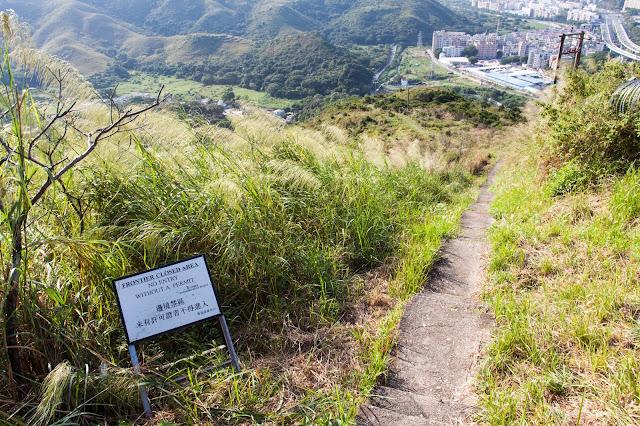 在新桂田附近的警崗,有路直達蓮麻坑村