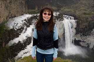 Teresa Foster at Palouse Falls - Winter