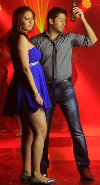 Gutta Jwala Hot Blue Dress
