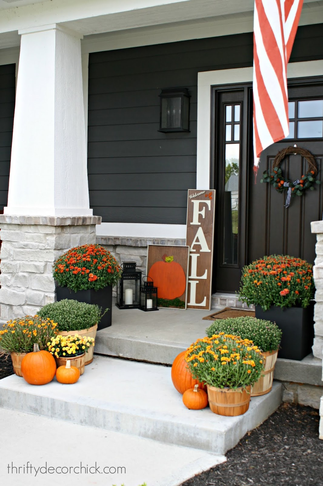 DIY fall signs for front porch