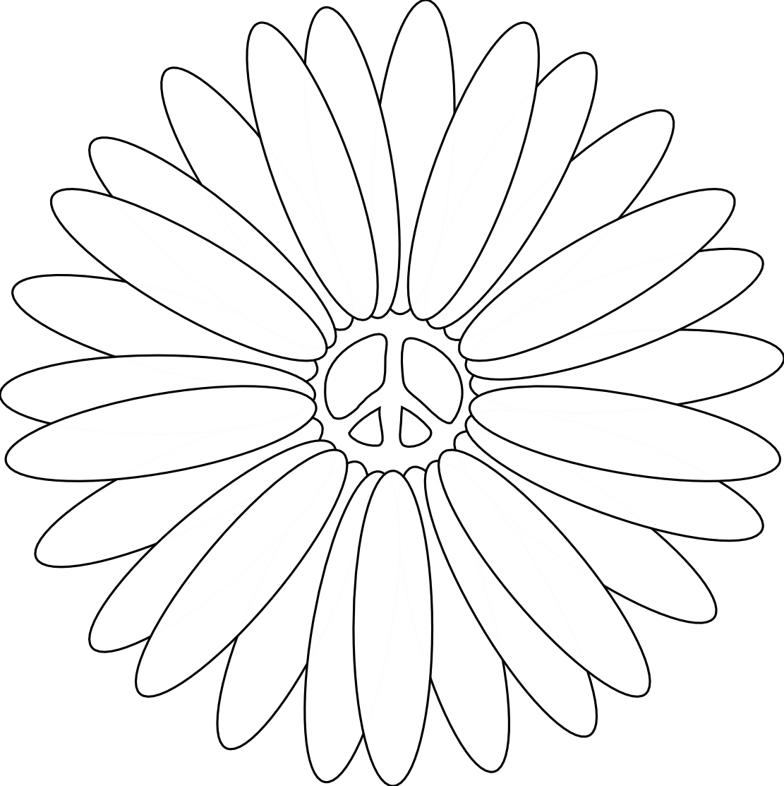 Free Printable Peace Sign Coloring Pages (50 Images) - Class Teacher