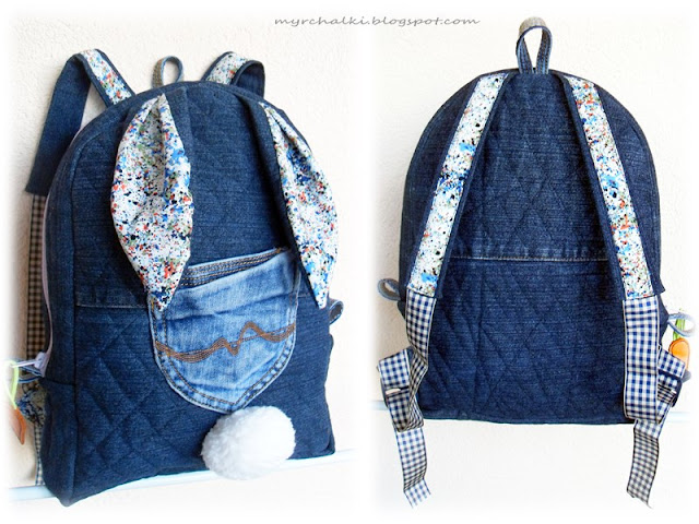 рюкзак детский из джинса своими руками