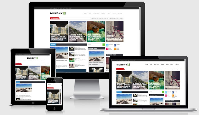 Munchy Mag Responsive Magazine Blogger Template