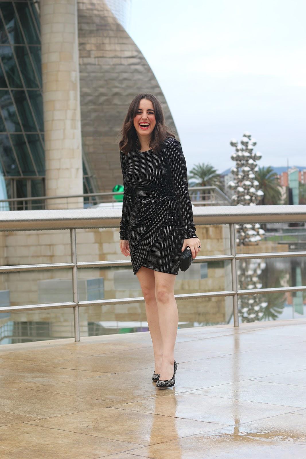 Vestido negro fiesta zapatos