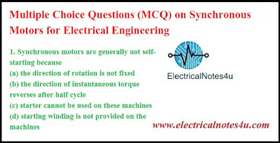 MCQ on Synchronous Motors for Electrical Engineering