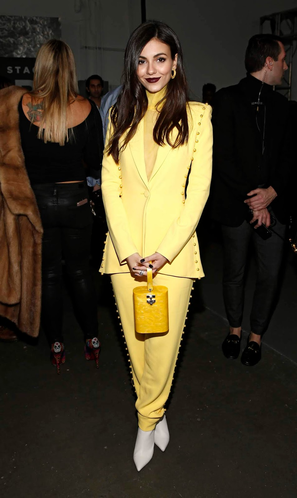 Victoria Justice - Pamella Roland fashion show during New York Fashion Week at Pier 59 in New York City - 02/07/2019
