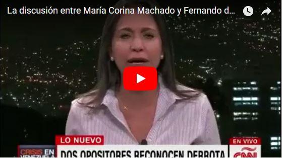La discusión entre Fernando del Rincón y Maria Corina Machado