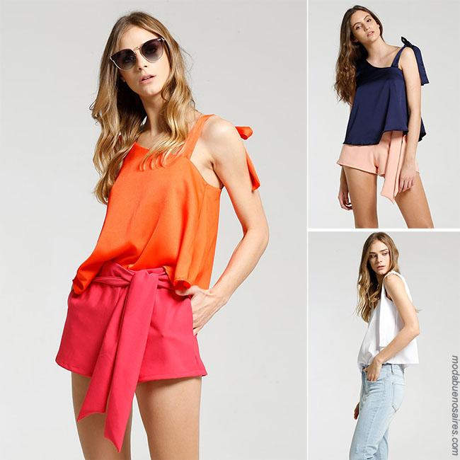 Moda 2018 para mujer . Blusas de moda 2018 - Ideas para outfits con blusas