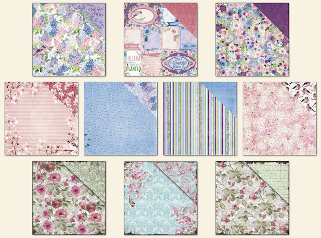 Scraps of Elegance April 2016 Wonderful kit patterned papers