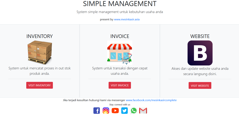 system inventory stok dan invoice