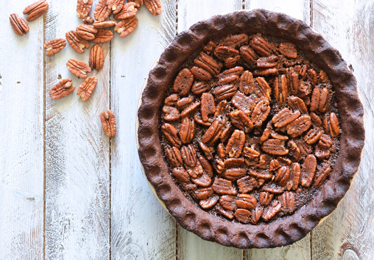 Chocolate Lovers Pecan Pie by Floating Kitchen