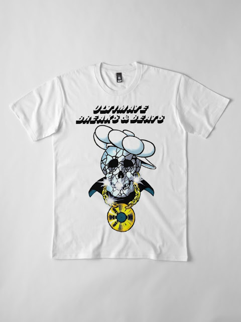 ULTIMATE BREAKS AND BEATS - SKULL AND CHAIN TSHIRT