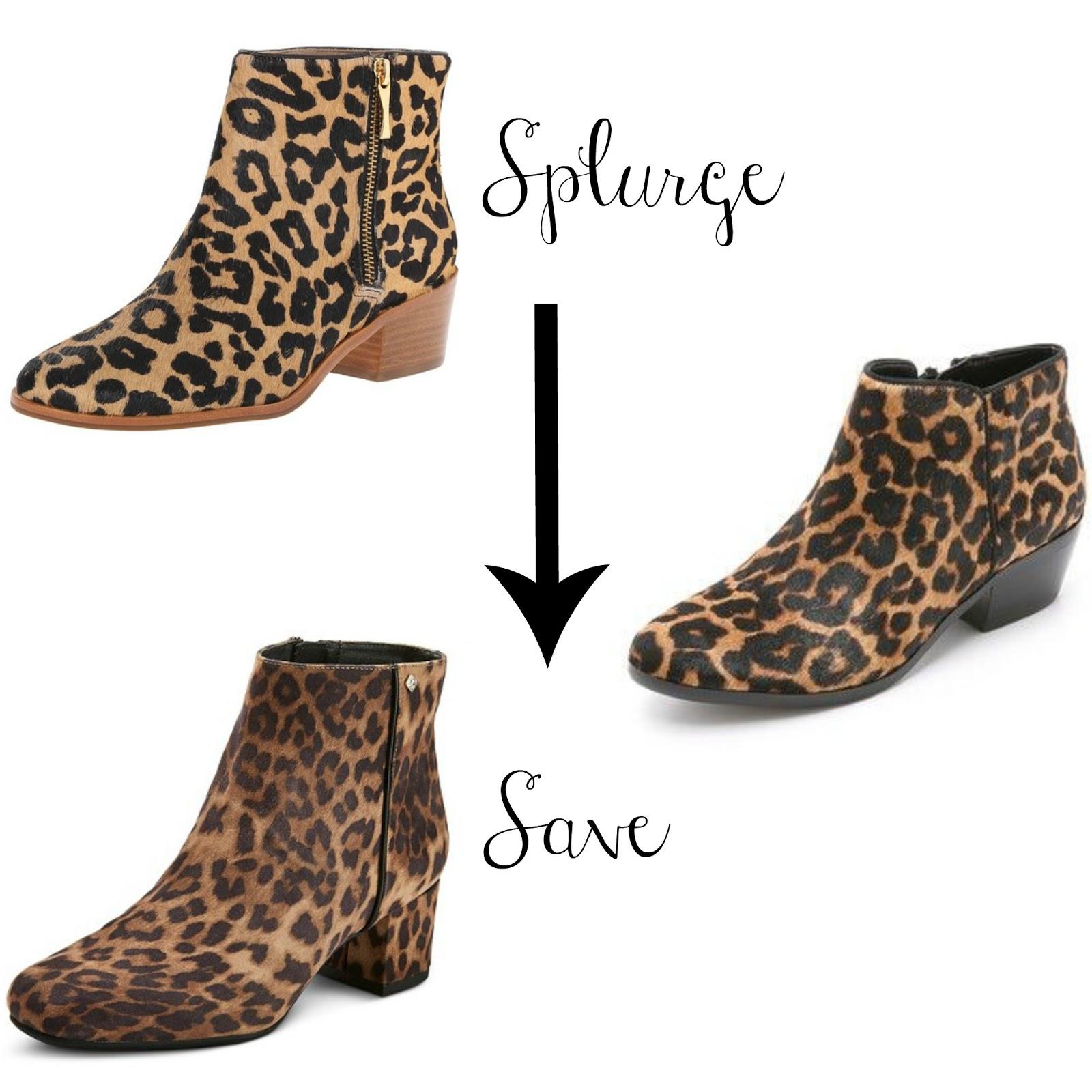 leopard booties - kate spade terri booties - sam edelman petty booties - target leopard booties - sam & libby leopard booties