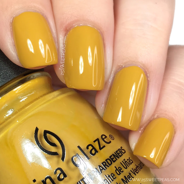 China Glaze Mustard the Courage