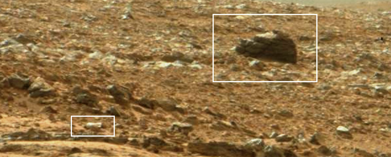 NASA Mars Curiosity Photographed Buried Statue And Bottle ...