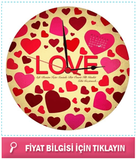 Love HDF Duvar Saati