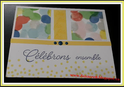 French birthday card CTMH Close to My Heart carte fête www.fun2cre8@blogspot.ca