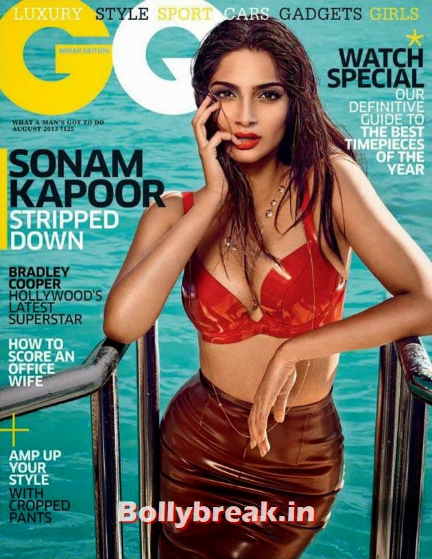 Sonam Kapoor on GQ cover, The Hottest cover girls of 2013