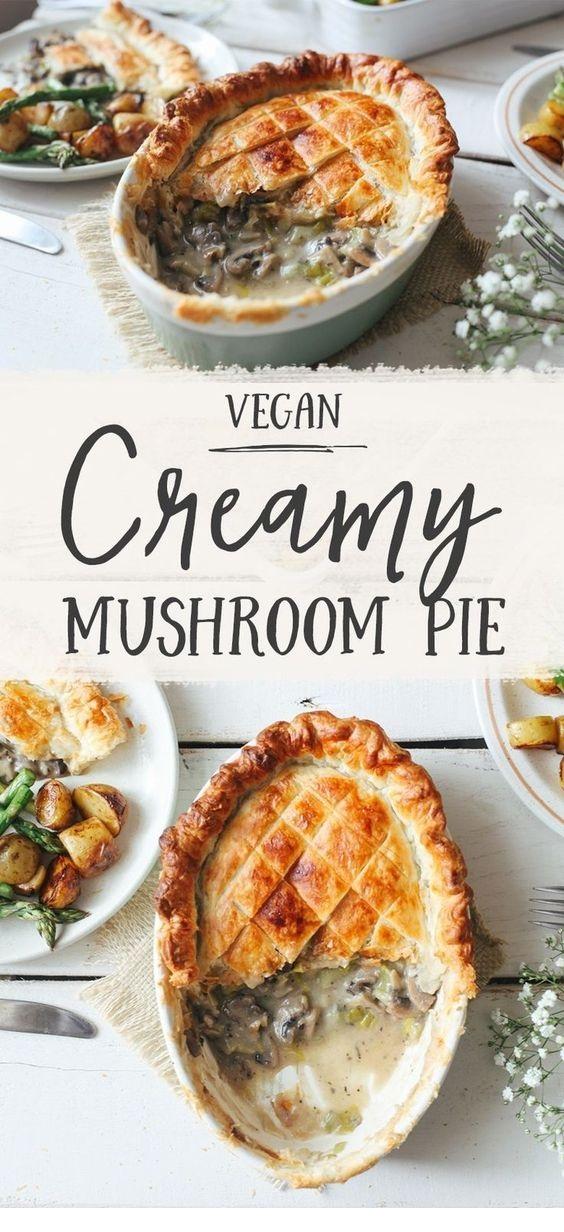 Creamy Leek & Mushroom Pie
