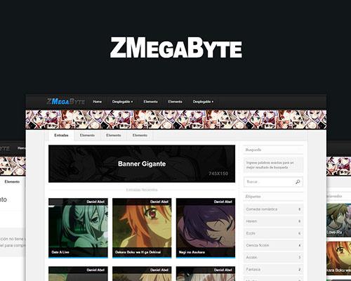 ZMegaByte – plantilla anime responsive, blogger