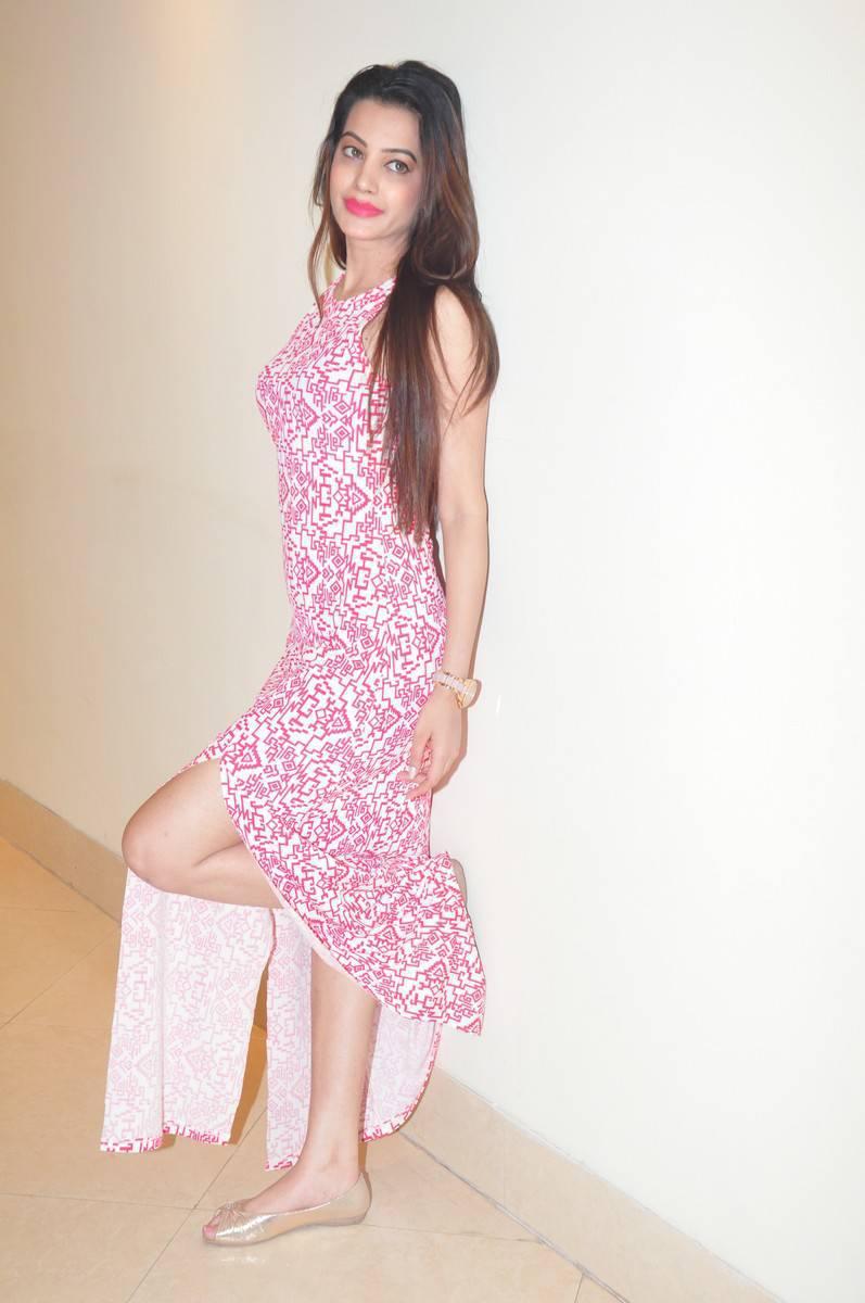 Tollywood Actress Diksha Panth Stills In Pink Dress