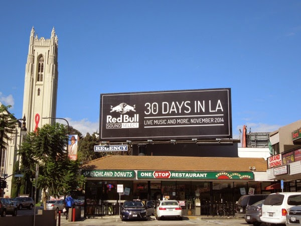 Red Bull Sound Select 30 days LA billboard