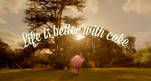 Life is better with cake - Mr. Kipling Pink Elephant Advert