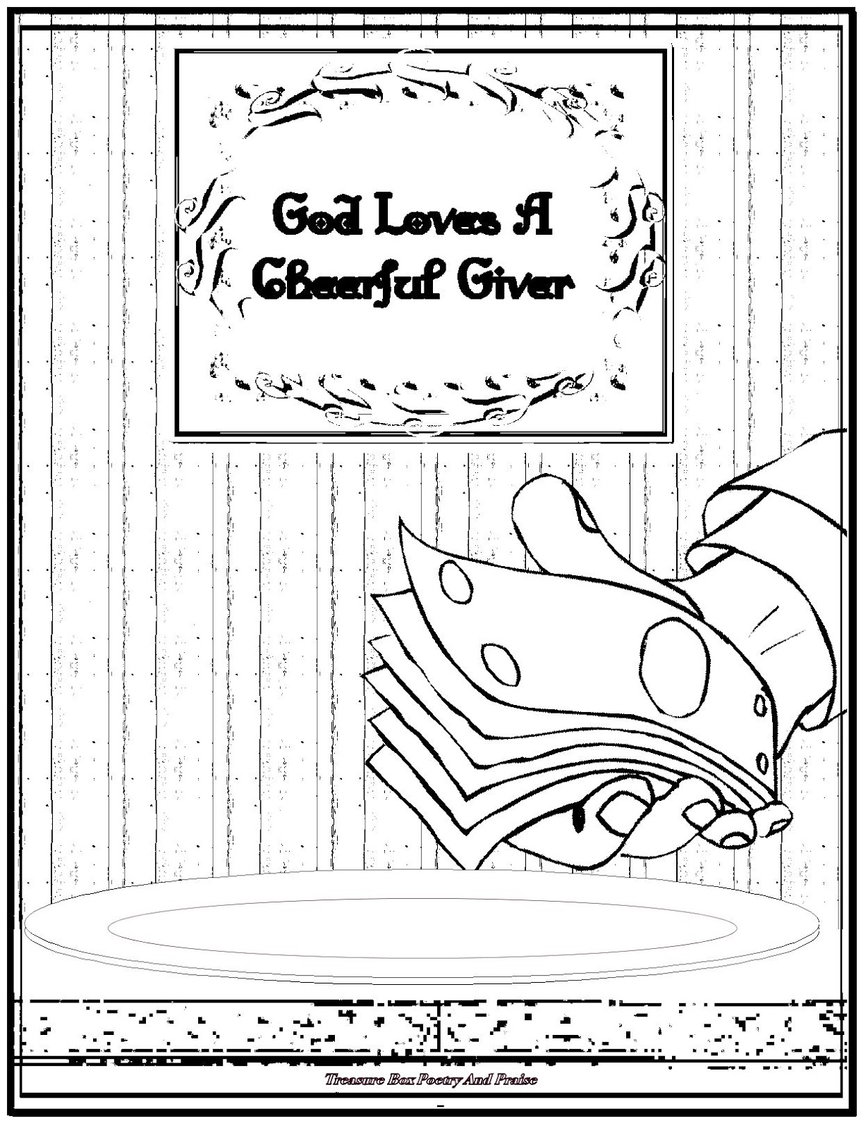 God Loves A Cheerful Giver - Coloring Sheet - Restored ...