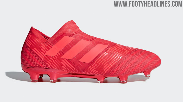 deaa39676d4f This is the all-red Adidas Nemeziz 17 2018 football boot colorway from the Cold  Blooded pack.