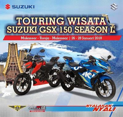 Touring Wisata Suzuki GSX 150 season 2 Sulawesi