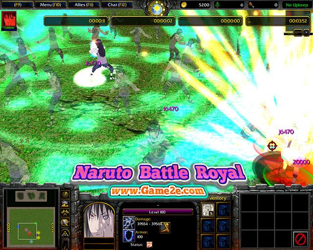 Naruto battle royal с ботами