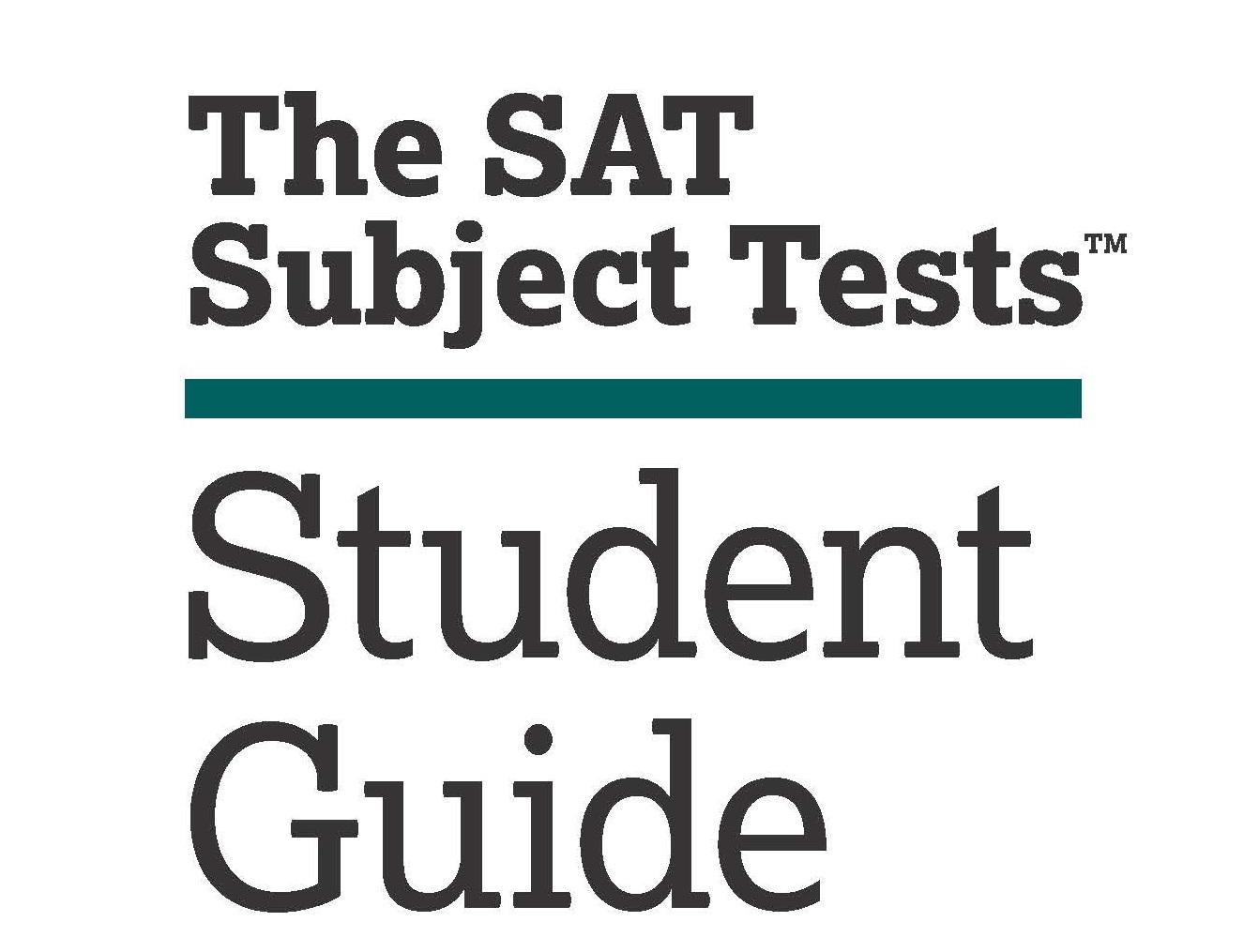คู่มือการสอบ SAT สำหรับนักเรียน [The SAT Subject Tests
