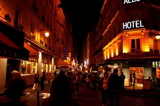 Fashion Cartoon Girl Wallpaper Paris Paris Nightlife