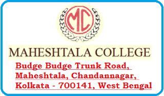 Maheshtala College, Budge Budge Trunk Road, Maheshtala, Chandannagar, Kolkata - 700141, West Bengal
