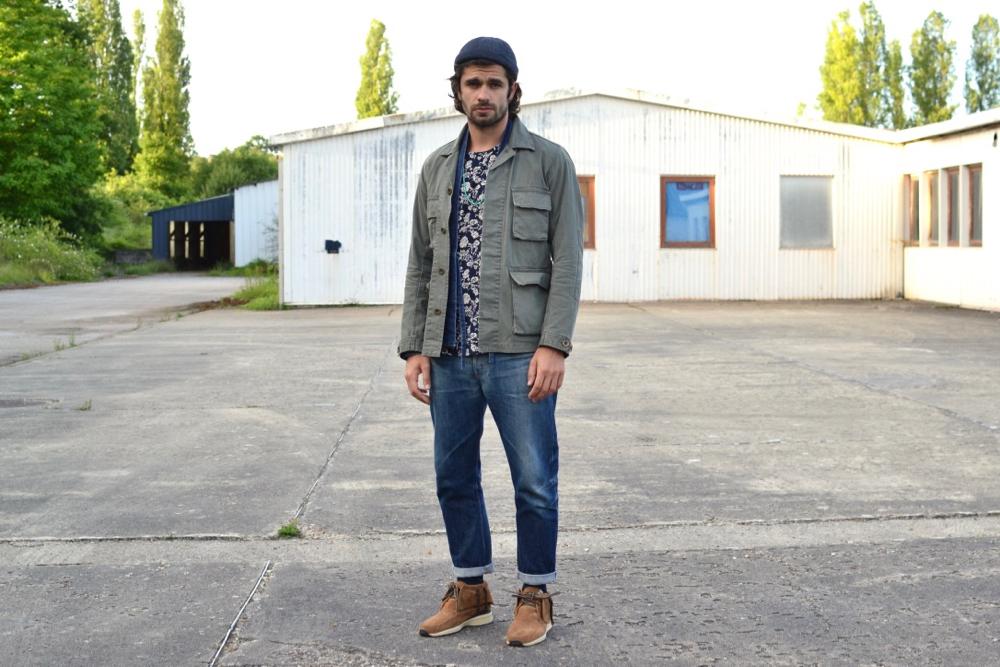 comment porter une veste militaire dans un style masculin homme workwear