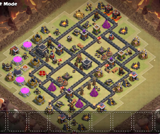 clash of clans town hall 9 war base layout