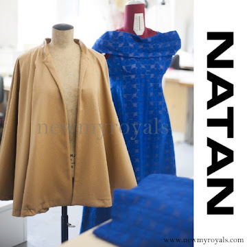 Queen Mathilde wore NATAN Lace Dress in Blue