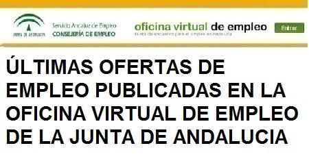 Últimas ofertas Oficina de Empleo Junta de Andalucía, Granada