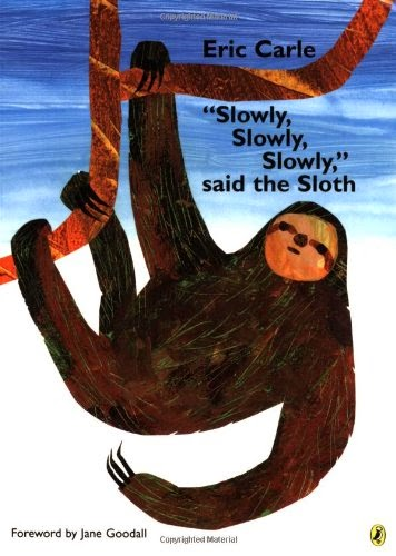 """""""Slowly, Slowly, Slowly,"""" said the Sloth, part of book review list of jungle and rainforest books"""