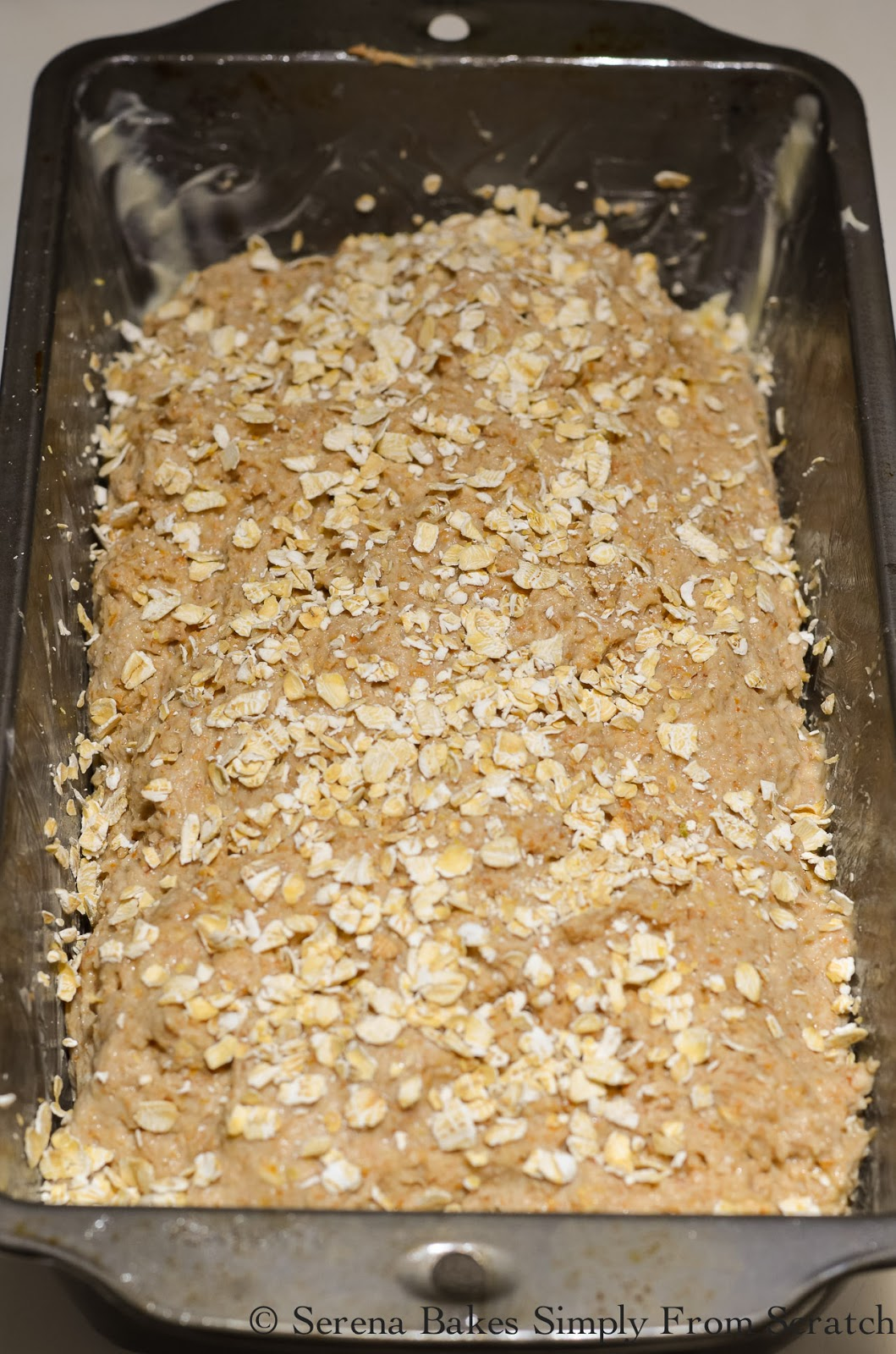 Irish Brown Bread sprinkle quick oats