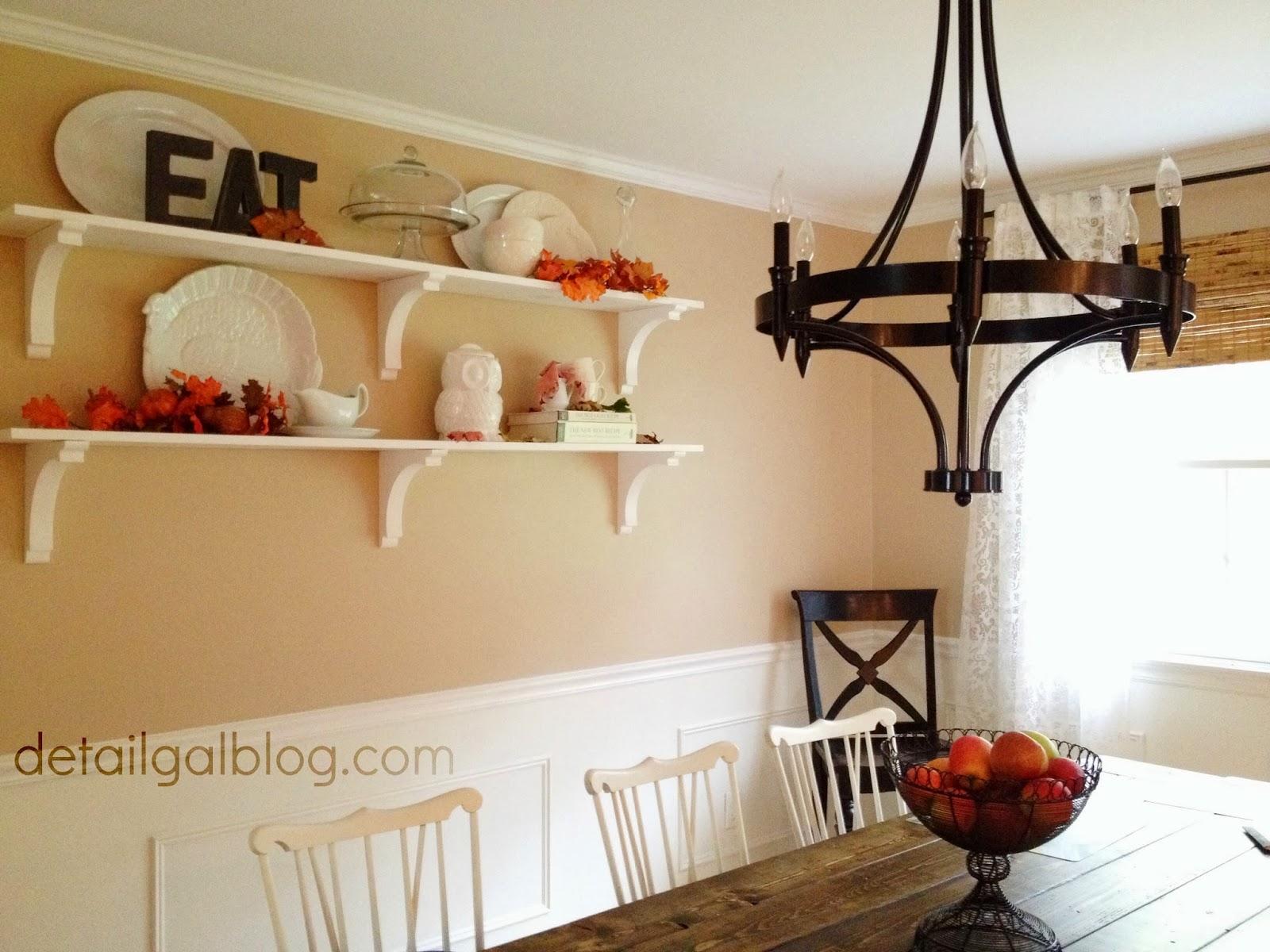 www.detailgal.com: DIY Shelves for $100 | Dining Room Shelf ...