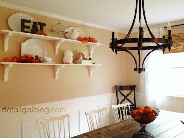 www.detailgal.com: DIY Shelves for $100 | Dining Room ...