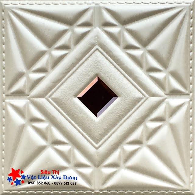 Tấm ốp PVC Da 3D màu trắng ngà