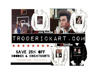 Coupon Code HEAVYDEAL 25% off Hoodies troderickart.com