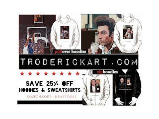 Coupon Code HEAVYDEAL 25% off Hoodies troderickart.com