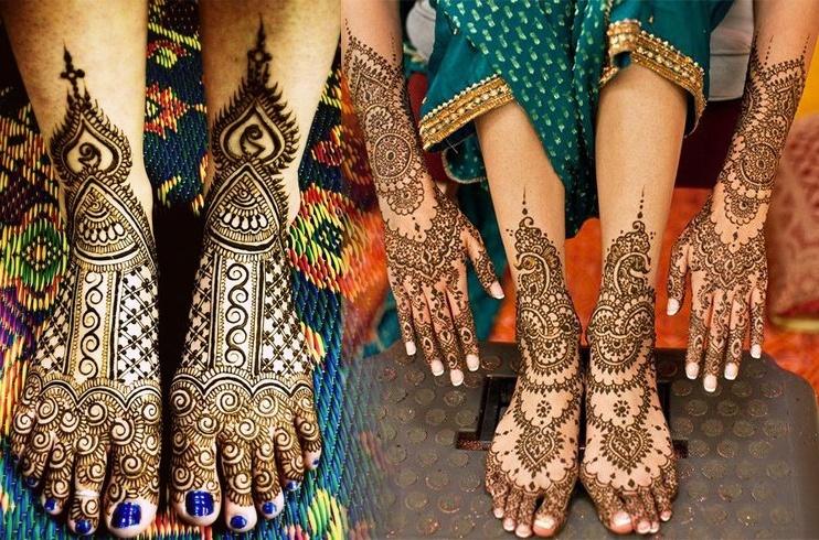Beautiful Mehandi Designs for Feet