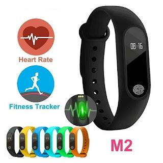 Monitor detak jantung dengan M2 Heart SmartBand