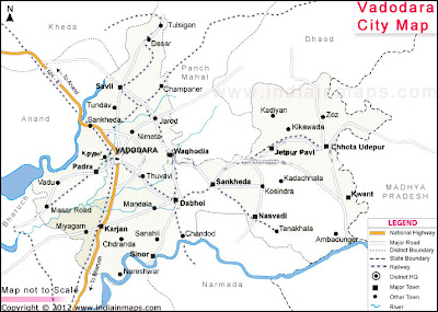 Vadodara City Map Vadodara City Map | India In Maps